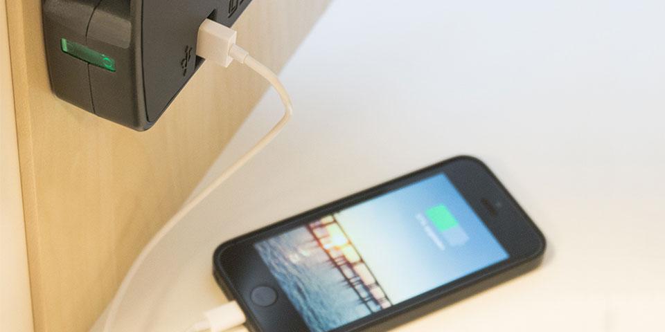 Usb opladen van je iphone of tablet